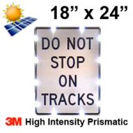 Solar DO NOT STOP ON TRACKS (R8-8) 18x24 High Intensity HIP