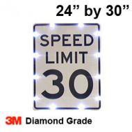 Solar powered SPEED LIMIT Sign (R2-1) 24x30 Diamond Grade DG3