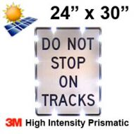 Solar DO NOT STOP ON TRACKS (R8-8) 24x30 High Intensity HIP