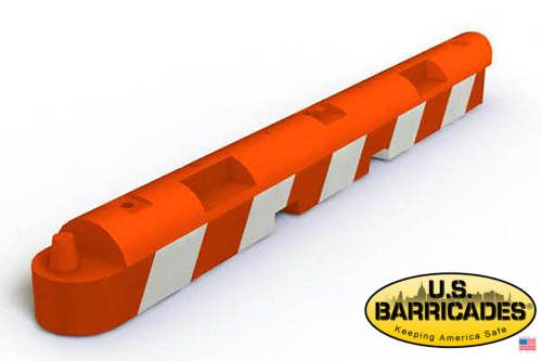 Low Profile Airport Barrier - Orange