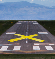 FAA Runway Closure X Marker (Economy 10x60ft Yellow)
