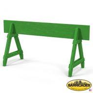 A-Frame Wood Barricade 4ft (Green)