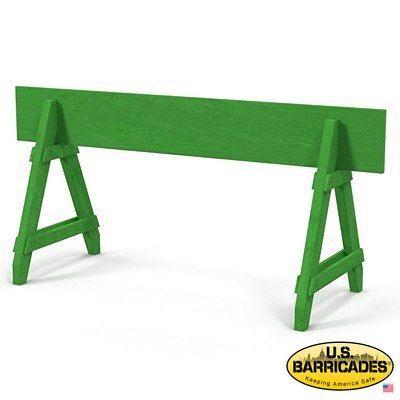 A-Frame Wood Barricade 10ft (Green)