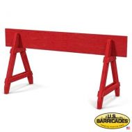 A-Frame Wood Barricade 10ft (Red)