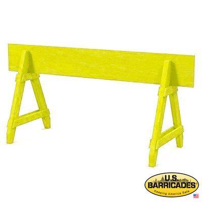 A-Frame Wood Barricade 6ft (Yellow)