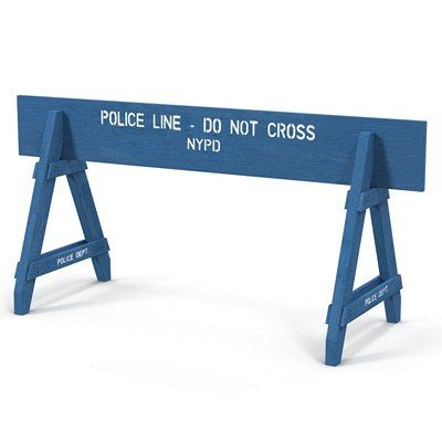 A-Frame Wood Police-Parade Barricade 6ft