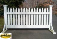 """Wood Road Barrier 40"""" x 50"""" - Classic Style"""