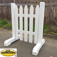 """Wood Road Barrier 42""""x30"""" - Classic Style"""