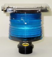 Solar Elevated Runway Light (Blue)