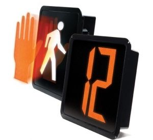LED Pedestrian Signal 12-inch Full Hand, Full Person, Countdown