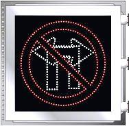 LED Illuminated NO LEFT TURN - NO RIGHT TURN Symbol