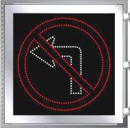 LED Illuminated NO LEFT TURN R3-2 Sign