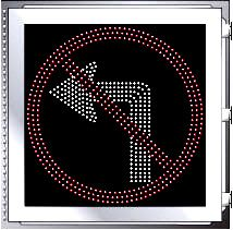 LED Illuminated NO LEFT TURN R3-1 Multi Line