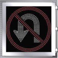 LED Illuminated NO U-TURN R3-4 Multi Line