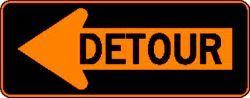 DETOUR (M4-10L) Construction Sign