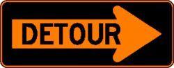 DETOUR (M4-10R) Construction Sign