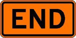 END (M4-8b) Construction Sign