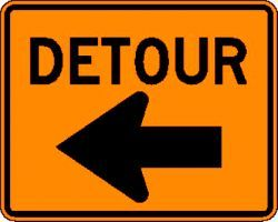 DETOUR (M4-9L) Construction Sign