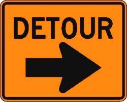 DETOUR (M4-9R) Construction Sign