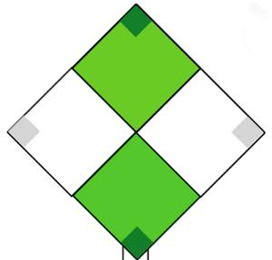 Marine Daymark  - Green & White