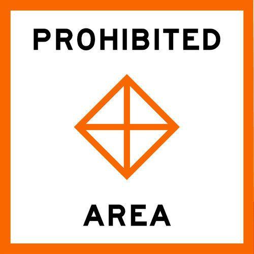PROHIBITED AREA - USCG Regulatory Sign