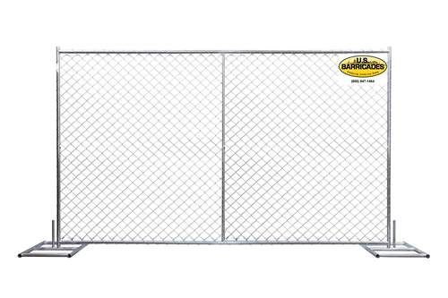 Temporary Chain Link Fence Panel 6ft x 8ft