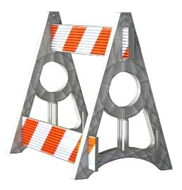 A-Frame Parade Barricade (Engineer Grade)