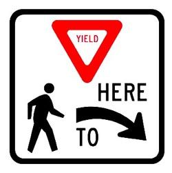 YIELD HERE TO PEDESTRIAN (R1-5)