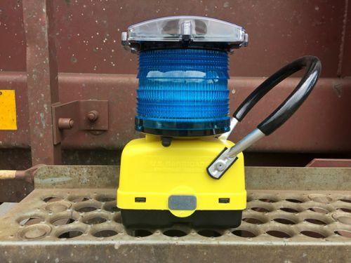 Blue Railroad Light (Solar) with Handle