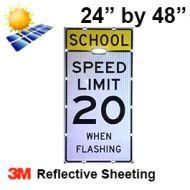 Solar SCHOOL SPEED LIMIT XX (S5-1) High Intensity HIP
