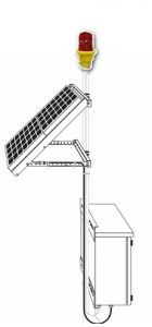 Solar Powered Obstruction Light (FAA L-810)