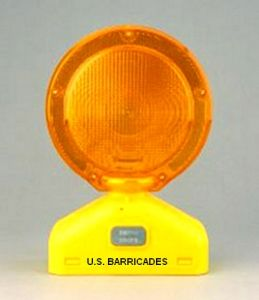 Solar Assist Barricade Light