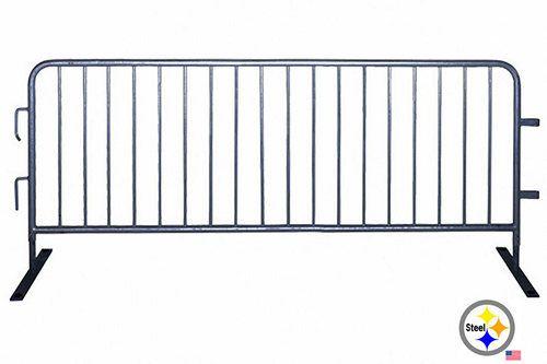 Heavy Duty Steel Pedestrian Barrier 7ft - Made in USA