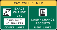 Toll Plaza Advance Sign