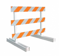 Type III Barricade (8ft Plastic Breakaway)