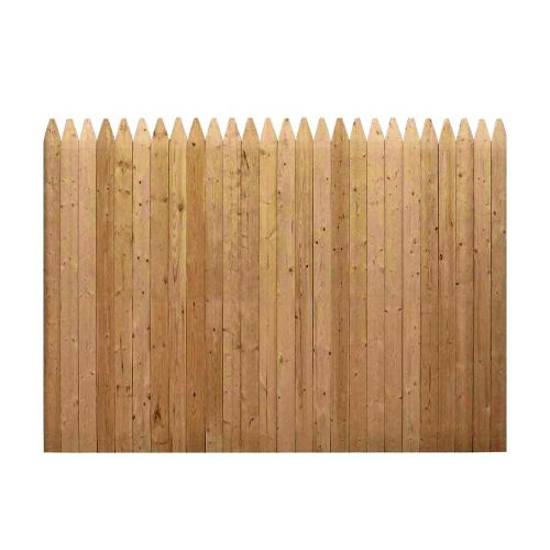 6 ft. x 8 ft. Natural Wood Color Stockade Fence Panel