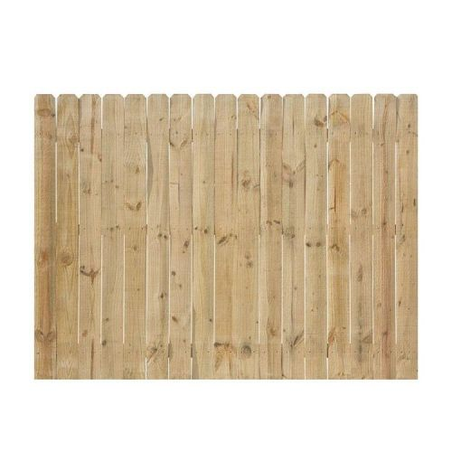 6 ft. H x 8 ft. Northern Pine Dog Ear Fence Panel