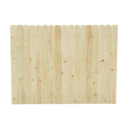 6 ft. H x 8 ft. Pressure-Treated Pine Dog-Ear Fence Panel