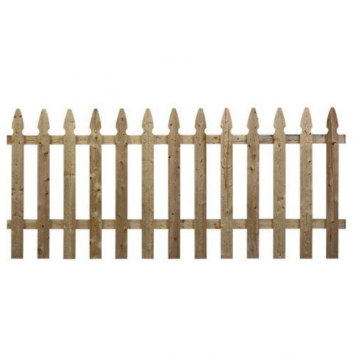 3-1/2 ft. x 8 ft. Pressure-Treated Pine French Gothic Fence