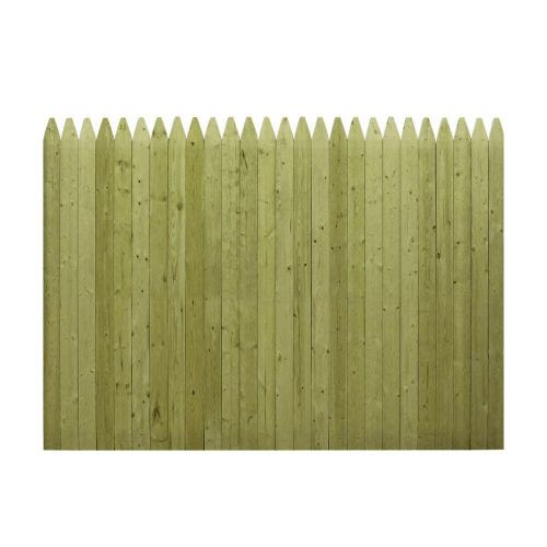 6 ft. x 8 ft. Pressure-Treated Stockade Fence Panel