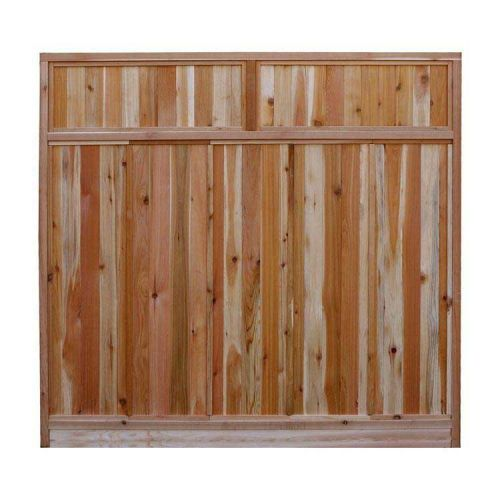 6 ft. x 6 ft. Western Red Cedar Solid Top Fence Panel