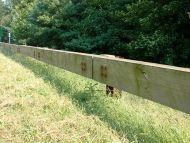Steel-Backed Timber Guardrail (Merritt Parkway Guardrail)