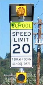 School Zone Warning Beacon System 300mm (12v Solar)
